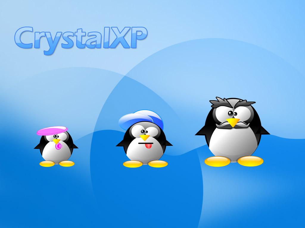 卡通企鵝桌布 7 - Linux_penguin_wallpaper07.jpg
