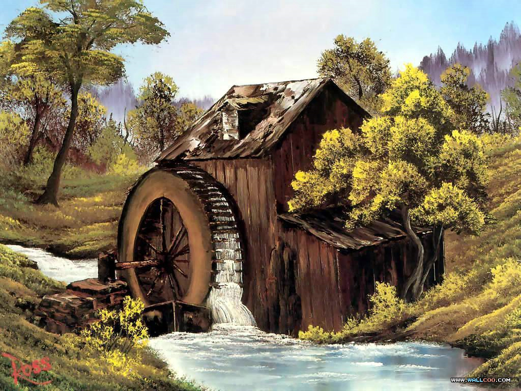 bob ross csg009 the old mill Pinturas al Oleo, Imagenes de Bob Ross