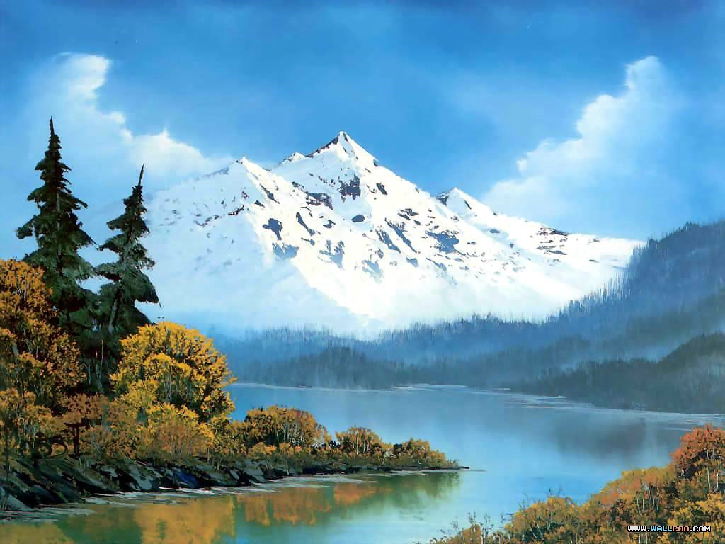 bob ross csg013 peaceful waters Pinturas al Oleo, Imagenes de Bob Ross