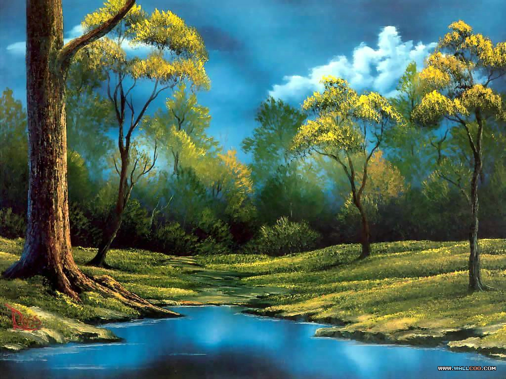 bob ross csg015 twilight meadow Pinturas al Oleo, Imagenes de Bob Ross